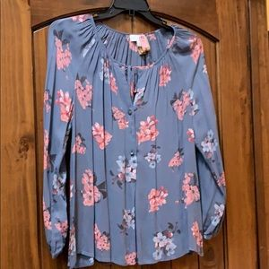 Lucky brand women's floral blouse size medium